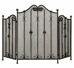 Twisted Iron Iron Fireplace Screen