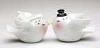 Two Loving Birds Ceramic Salt and Pepper Shakers, Set of 4