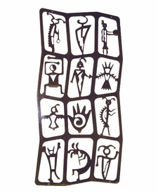 Vertical Flat Petroglyph Wall Art