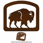 Walking Buffalo Metal Napkin Holder