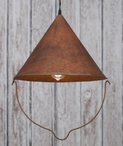 Weathered Copper Bob's Pendant Lamp Light