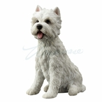 West Highland White Terrier Sitting Dog Sculpture