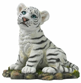 White Baby Tiger Sculpture