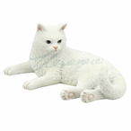 White British Shorthair Cat Sculpture