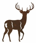 White Tail Deer Metal Curtain Rod Holders