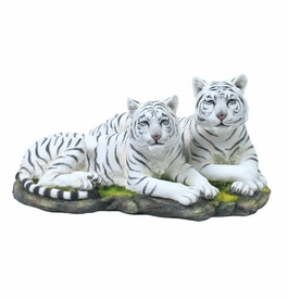 White Tiger Couple Sculpture