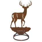 Whitetail Deer Metal Bath Towel Ring