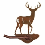 Whitetail Deer Metal Toilet Paper Holder