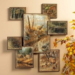 Whitetail Deer Wall Collage Wall Art