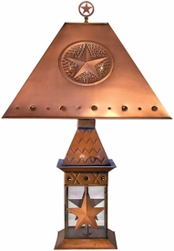 Wildlife Copper Lantern Table Lamp with Shade and Finial, 10 Designs
