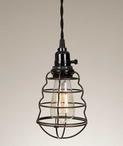 Wire Cage Pendant Lamp Light