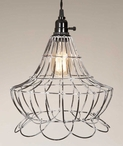 Wire Scallop Bell Pendant Lamp Light