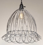 Wire Scallop Dome Pendant Lamp Light