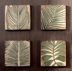 Wood Palm Leaf Wall Art, Set of 4