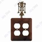 Yei Double Metal Outlet Cover
