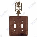 Yei Double Toggle Metal Switch Plate Cover