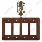 Yei Quad Rocker Metal Switch Plate Cover