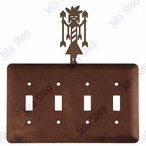 Yei Quad Toggle Metal Switch Plate Cover