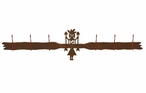Yei Six Hook Metal Wall Coat Rack