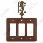 Yei Triple Rocker Metal Switch Plate Cover
