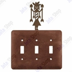 Yei Triple Toggle Metal Switch Plate Cover