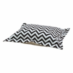Zig Zag Brown Natural Flanged Pet Bed