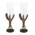 Zombie Hand Dessert Wine Cordial Glasses, Set of 2
