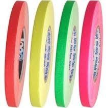 """1/2"""" Fluorescent Pro Spike Tape - Case of 24 Rolls (4 Colors)"""