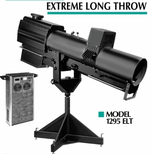 1295 ELT 3-4K Extreme Long Throw Spotlight - Choice of Bases