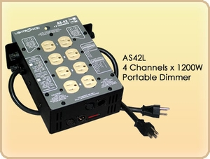 AS42L 4 Channel x 1200W Portable Dimmer