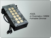 AS62L 6 Channel x 1200W Portable Dimmer