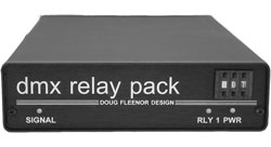 DMX Relay Pack - Six Relays - Low Voltage Output