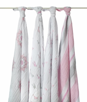 Aden + Anais 4 Pack Swaddling Wraps For The Birds
