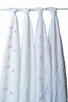 Aden + Anais 4 Pack Swaddling Wraps Lovely