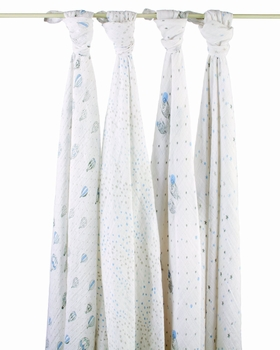 Aden + Anais 4 Pack Swaddling Wraps Night Sky