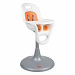 Boon Flair Pedestal Highchair White/Orange