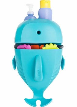 Boon WHALE POD Bath Toy Scoop, Drain & Storage - Blue
