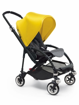 Bugaboo Bee3 Complete All Black Base Grey Melange/Bright Yellow