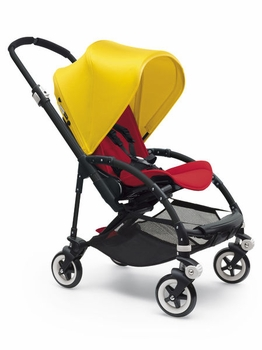 Bugaboo Bee3 Complete All Black Base Red/Bright Yellow