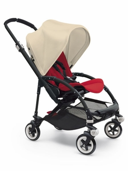 Bugaboo Bee3 Complete All Black Base Red/Off White
