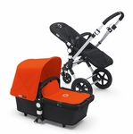 Bugaboo Cameleon3 Black Base w Orange Fabric
