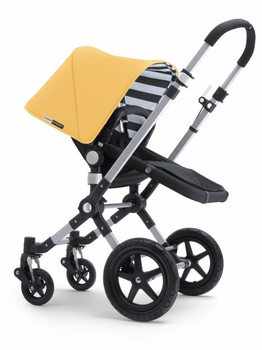 Bugaboo Cameleon3 Black Base w Sunny Gold Fabric