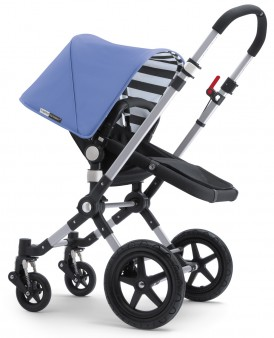 Bugaboo Cameleon3 Dark Grey Base w Jewel Blue Fabric