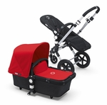 Bugaboo Cameleon3 Dark Grey Base w Red Fabric