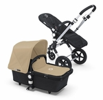 Bugaboo Cameleon3 Dark Grey Base w Sand Fabric