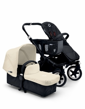 Bugaboo Donkey Mono 2014 Extendable All Black/Off White