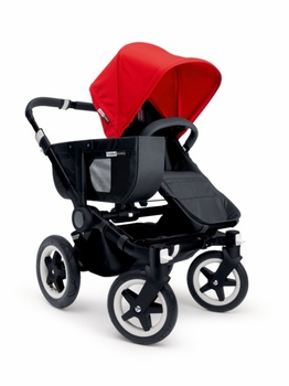 Bugaboo Donkey Mono 2014 Extendable All Black/Red