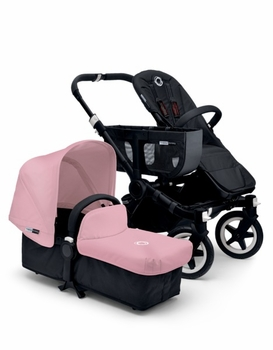 Bugaboo Donkey Mono 2014 Extendable All Black/Soft Pink