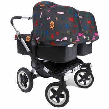 Bugaboo Donkey Twin Black Andy Warhol Happy Bugs