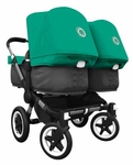 Bugaboo Donkey Twin Stroller in Black/Jade Green